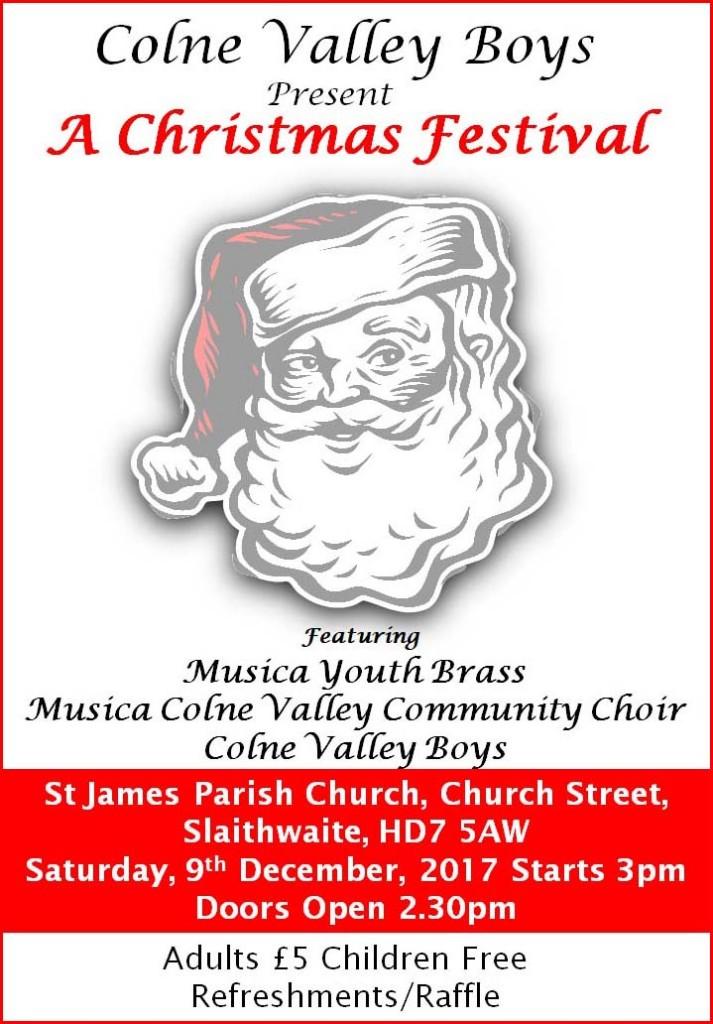 Boys Christmas Concert 2017 poster