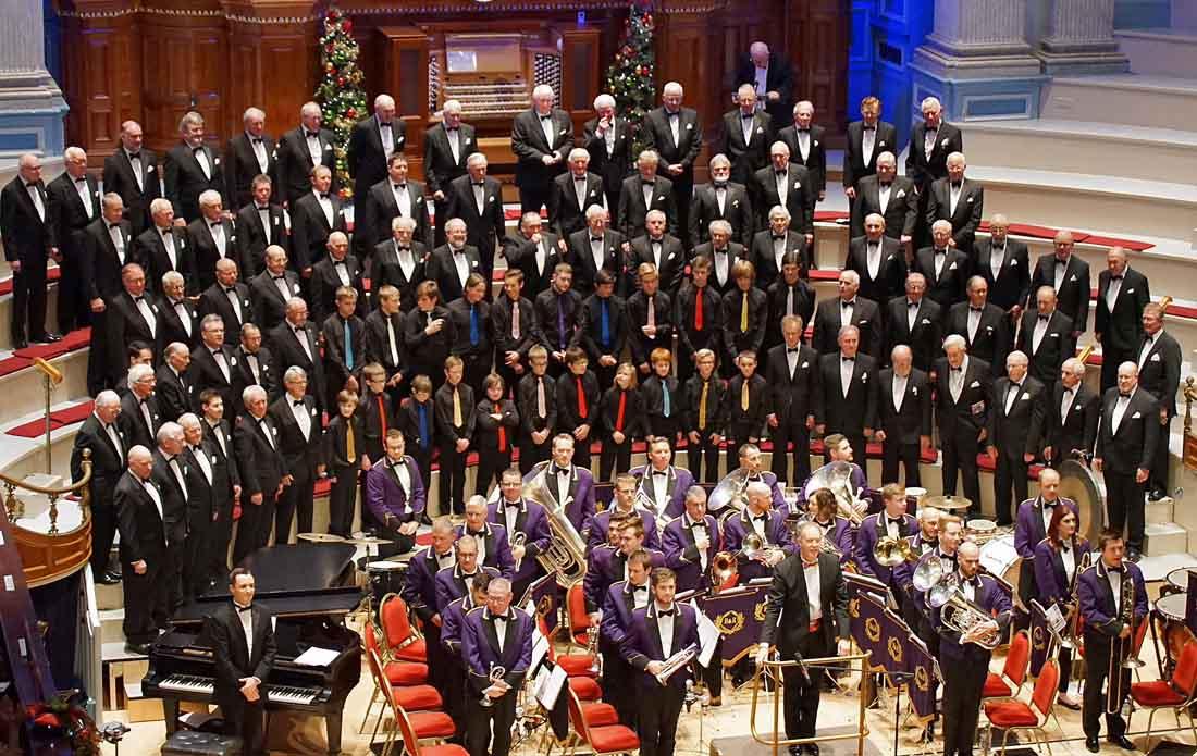Choir at Christmas at town hall 2017