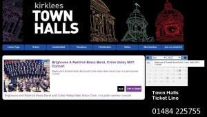 Kirklees Town Hall link fot 2017 B&R concert