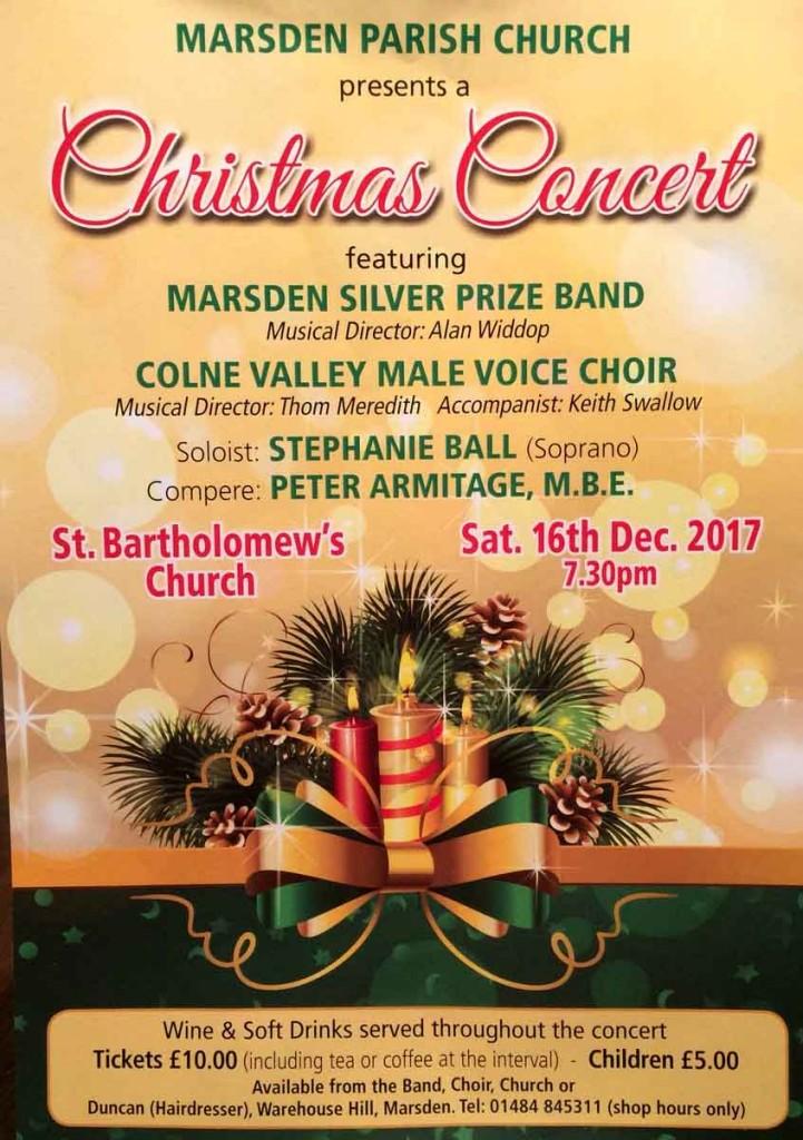Marsden Christmas concert poster 2017