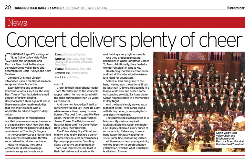 Christmas Concert 2017 Examiner report