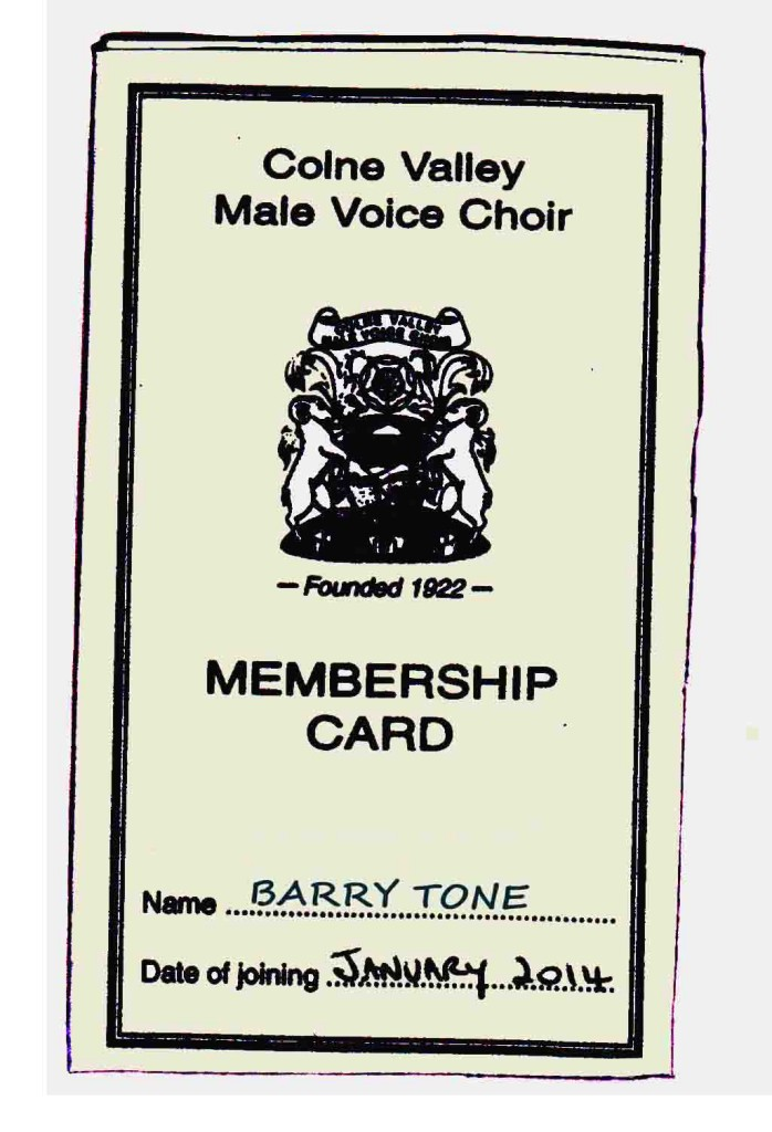 membership card for Barry Tone